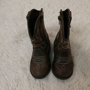 Faux Leather Cowgirl Boots sz 7